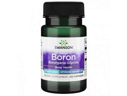 Swanson Boron Bororganic Glycine (Bor), 6 mg, 60 kapslí new