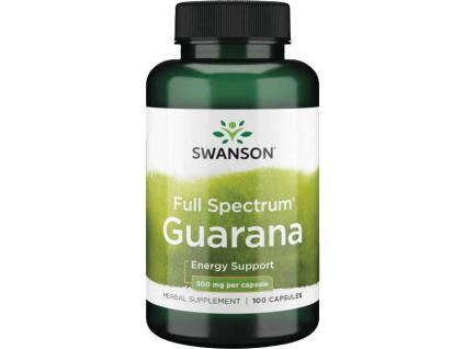 Swanson Guarana, 500 mg, 100 kapslí