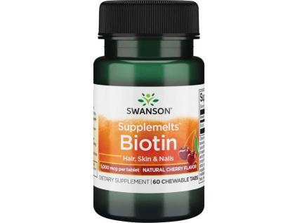 Swanson Biotin, 5000 μg, 60 žvýkacích tablet