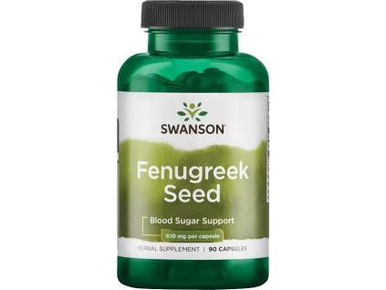 Swanson Fenugreek Seed, 610 mg, 90 kapslí