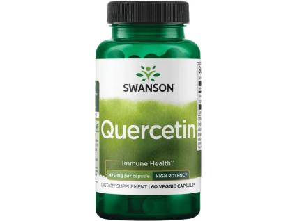 Swanson Quercetin, Vysoce účinný, 475 mg, 60 rostlinných kapslí