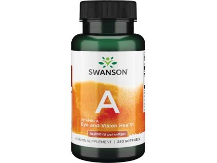 Swanson Vitamin A, 10000 IU, 250 softgel kapslí