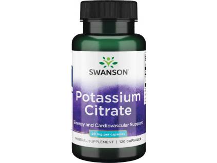Swanson Potassium Citrate (Draslík), 99 mg, 120 kapslí