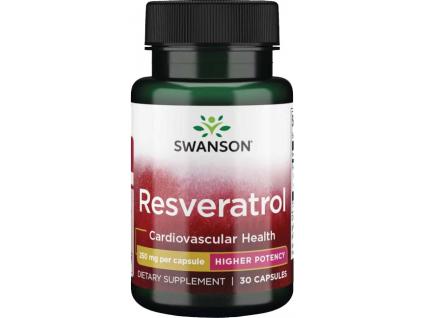 Swanson Resveratrol, 250 mg, 30 kapslí