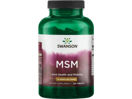 Swanson MSM, 1500 mg, 120 tablet