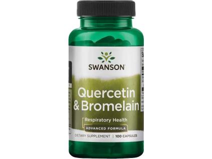 Swanson Quercetin & Bromelain, 100 kapslí