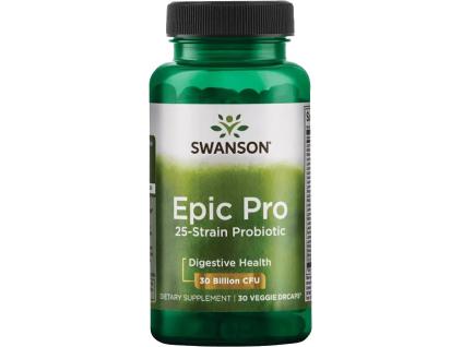 Swanson Epic Pro Probiotic 25, probiotika, 30 miliard CFU, 25 kmenů, 30 rostlinných kapslí