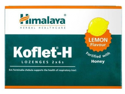 Himalaya Herbals Koflet H s medem a citronem 12 pastilek