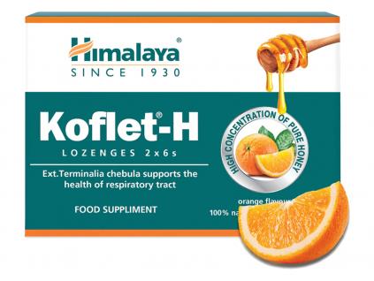 Himalaya Herbals Koflet H s medem a pomerančem 12 pastilek