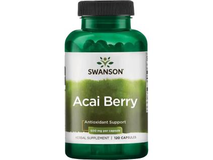 Swanson Acai Berry, 500 mg, 120 kapslí