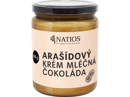NATIOS sklenicka arasidovy krem mlecna cokolada