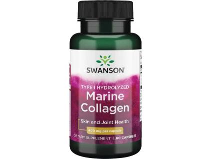 Swanson Marine Collagen, Mořský kolagen typu I, 400 mg, 60 kapslí
