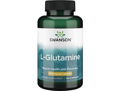Swanson L Glutamine (Glutamin) 500 mg, 100 kapslí
