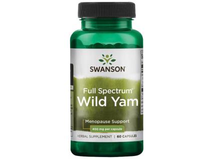 Swanson Full Spectrum Wild Yam (Smlditec chlupatý), 400 mg, 60 kapslí
