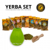 yerba set (zelena ornamenty+mercedes)