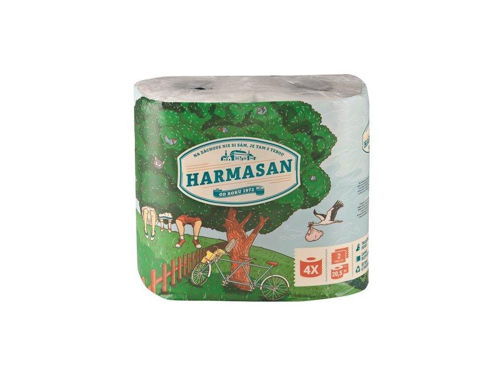 Toaletní papír HARMASAN, 2-vrstvý (4x20,5m)