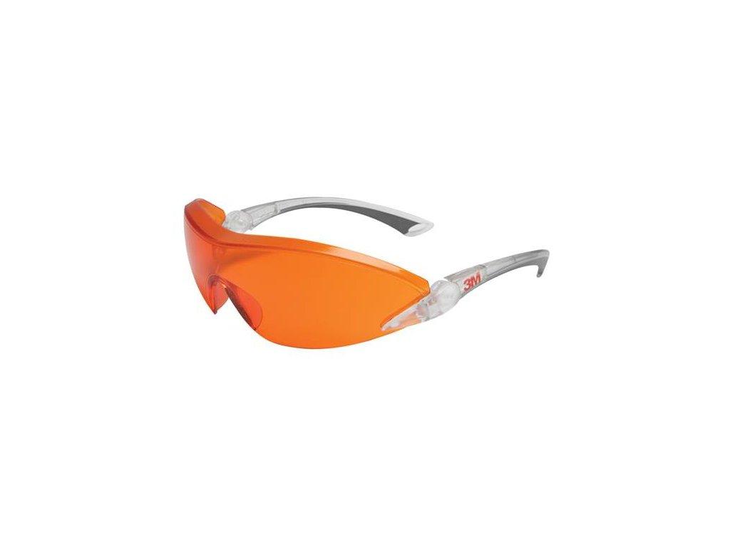 2846, Červeno-oranžové polykarb. brýle 2846, AS-AF