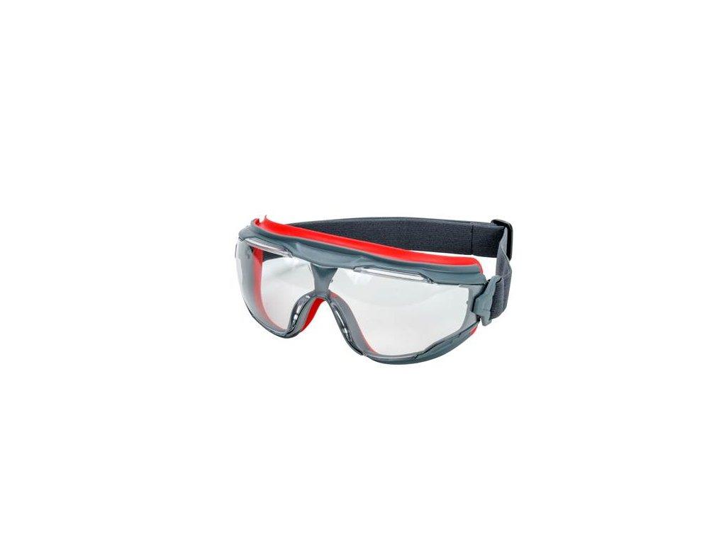 GG501SGAF-EU, Čiré uzavřené polykarb. ochranné brýle s povrchem  Scotchgard