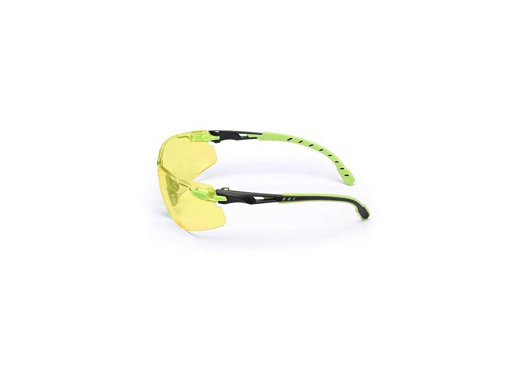 S1203SGAF-EU, Žluté polykarb. brýle Solus Scotchgard AF (zeleno-černé)