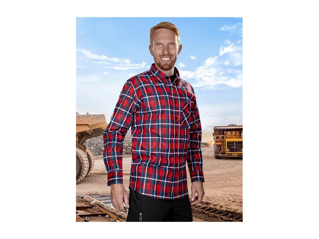 Flanelová košile JONAH, červená