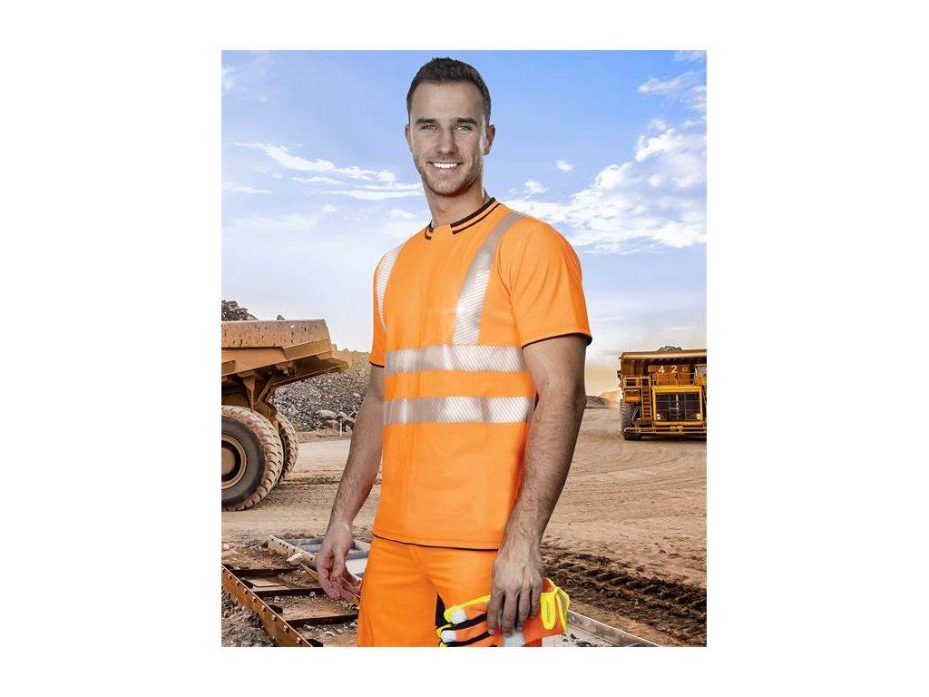 SIGNAL výstražné triko oranžové