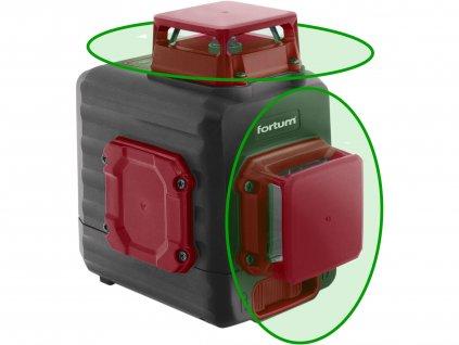 laser zelený 2D liniový, křížový samonivelační