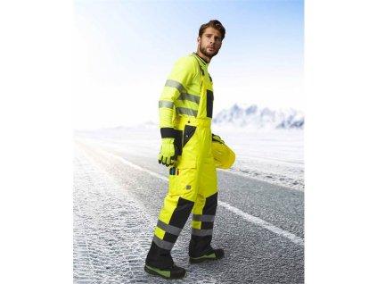 Reflexní zimní kalhoty s laclem ARDON®HOWARD žluté
