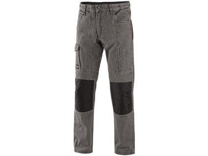 Kalhoty jeans NIMES III, pánské, šedo-černé