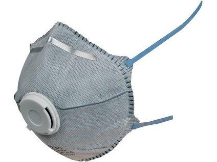 Filtrační polomaska CXS SPIRO P2, HY8626, tvarovaná s ventilkem a aktivním uhlím