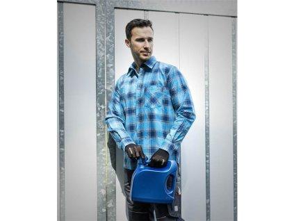Flanelová košile URBAN, modrá