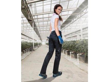 Kalhoty pas FLORET černo-modrá
