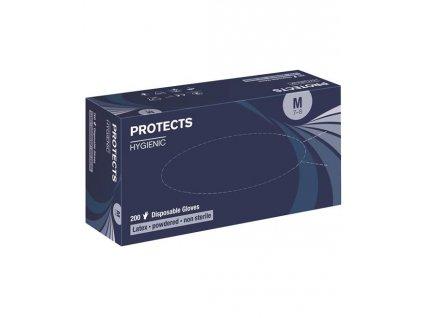 PROTECTS HYGIENIC LATEX PUDR 200KS (dlouhodobě nedostupné COVID) DOPRODEJ