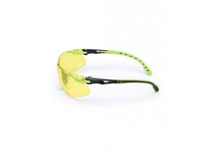 S1203SGAF-EU, Žluté polykarb. brýle Solus Scotchgard AF (zeleno-černé) DOPRODEJ
