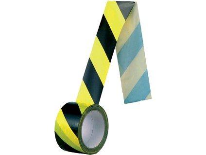 Samolepící páska, normová, 60 mm, žluto-černá