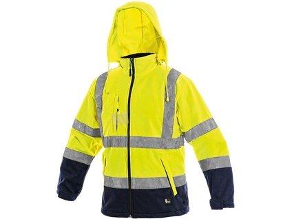 Bunda CXS DERBY, výstražná, pánská, žluto-modrá