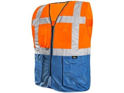 Vesta BOLTON, výstražná, oranžovo - modrá