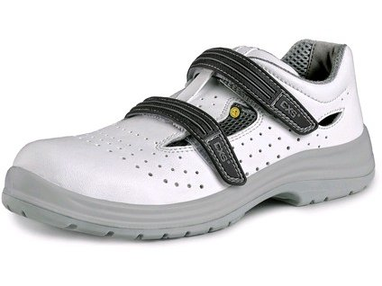 Obuv sandál CXS PINE O1 ESD, perforovaný, bílá