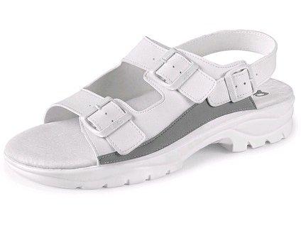 Obuv pracovní sandál CXS PAOLA, s páskem, bílý