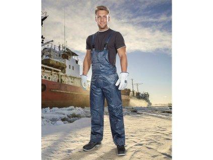 Zimní kalhoty s laclem ARDON®BC 60 K modré – DOPRODEJ