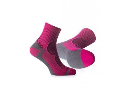 Ponožky FLR TREK PINK