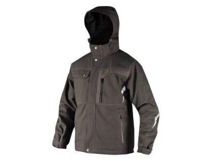 BLAKE zimní soft. bunda černá s refl.