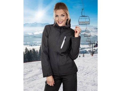 Zimní bunda softsh. ROSE dámská, černá