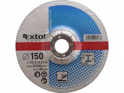 kotouče brusné na kov, 5ks, 150x6,0x22,2mm