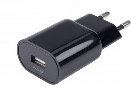 nabíječka USB, 2,4A, 12W, 100-240V