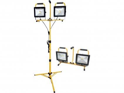 reflektor LED, 2x2400lm, se stojanem 168cm