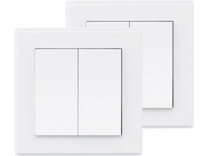 vypínač/ovladač, dvojitý, 2ks, 2 jednotlivé/skupinové kanály