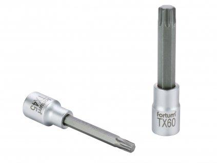 "hlavice zástrčná prodloužený TORX, 1/2"", TX 55, L 100mm, CrV/S2"