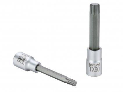 "hlavice zástrčná prodloužený TORX, 1/2"", TX 60, L 100mm, CrV/S2"