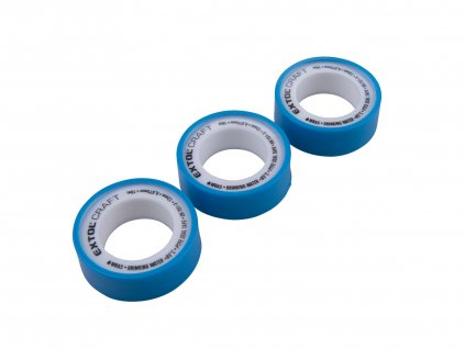 pásky těsnící teflonové, sada 3ks, 12mm x 10m