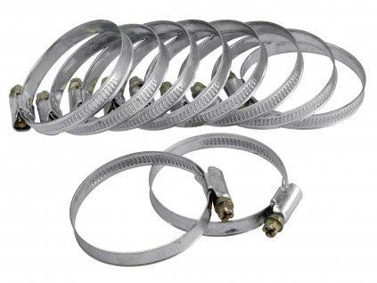 spony hadicové NEREZ, balení 10ks, 50-70mm